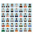 call center employee avatars set with headset vector image vector image