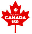 canadian maple 150 years vector image vector image