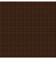 Chocolate tile - seamless background vector image