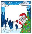 christmas theme frame 4 vector image vector image