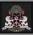 coat of arms vampire bat vector image