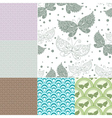 Collection seamless pastel patterns vector image vector image