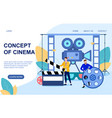 concept cinema and cinematography vector image vector image