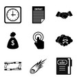 copyist icons set simple style vector image