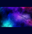 cosmos background colorful space with stardust vector image vector image