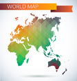 Eastern Hemisphere globe Bright map vector image