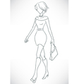 fashion girl in dress vector image vector image