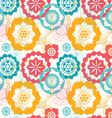 flower life seamless pattern vector image