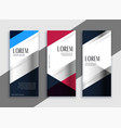 geometric business vertical banners design vector image vector image