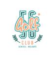 golf club emblem in retro style vector image vector image