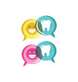 good review dental care service logo icon in vector image vector image