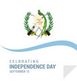 guatemala independence day patriotic design vector image