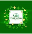 happy st patricks day green banner design vector image