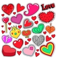 Hearts Love Badges Stickers Patches vector image