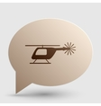 Helicopter sign Brown gradient icon vector image vector image