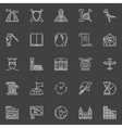 history linear icons vector image