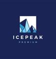 ice peak square mount geometric logo icon vector image vector image
