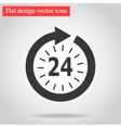 Icon watch timetable 24 hours vector image vector image