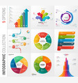 infographic collection 5 options vector image vector image