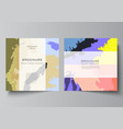 layout two square covers design vector image vector image