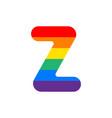 logo letter z rainbow vector image
