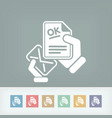 mail with a positive response vector image