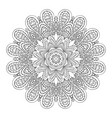 mandala flower doodle ornament coloring vector image