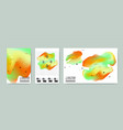 marble cloud hologram backgrounds set placards vector image vector image