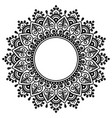 mehndi indian henna tattoo mandala design vector image