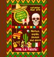 mexican poster for cinco de mayo fiesta vector image vector image