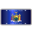 new york state license plate flag vector image
