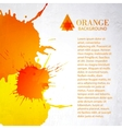 Orange background with splashes vector image vector image