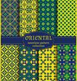oriental seamless patterns vector image