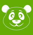 panda icon green vector image vector image