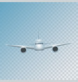 realistic plane flies high vector image