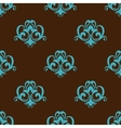 Retro azure seamless pattern vector image vector image