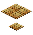 set of floor tile with texture of wooden plank vector image vector image