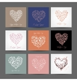 Set of valentine cards with hearts for your design vector image
