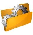 Settings folder vector image