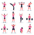 sport guy young man exercising male character vector image