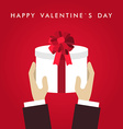 St Valentines day greeting card in flat style Male vector image