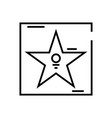star alley line icon concept sign outline vector image vector image