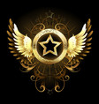 star with golden wings vector image vector image