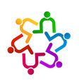 teamwork people contributing icon logo vector image vector image