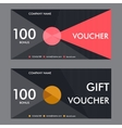 Template gift voucher with vector image