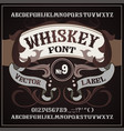 whiskey label font alcohol label style vector image vector image