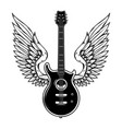 winged guitar isolated on white background design vector image vector image