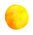 yellow round watercolor blob vector image