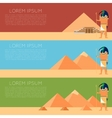 Egypet Thoth banner vector image