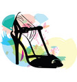 abstract drawing of high heel female shoes vector image